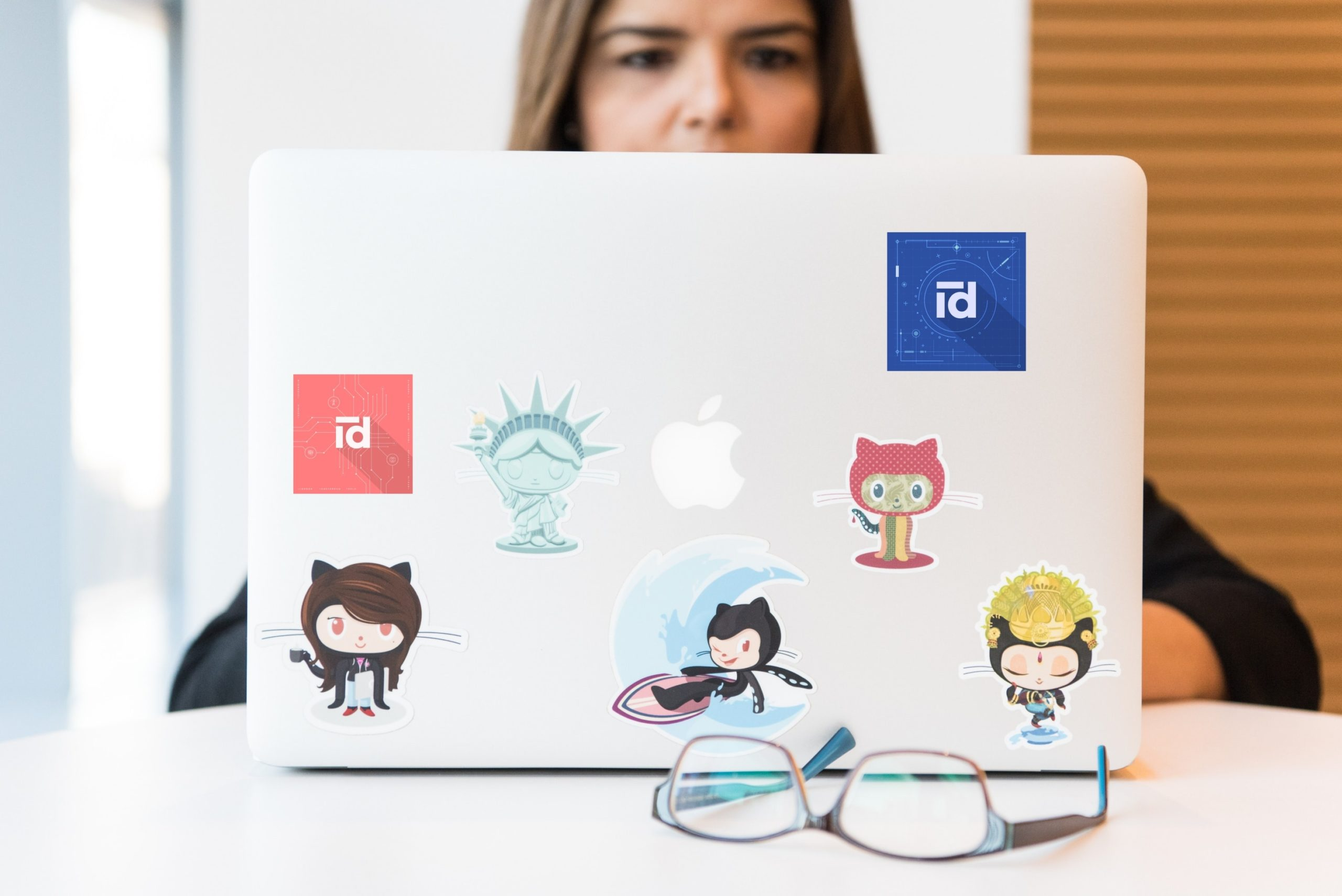 Woman programming in Python