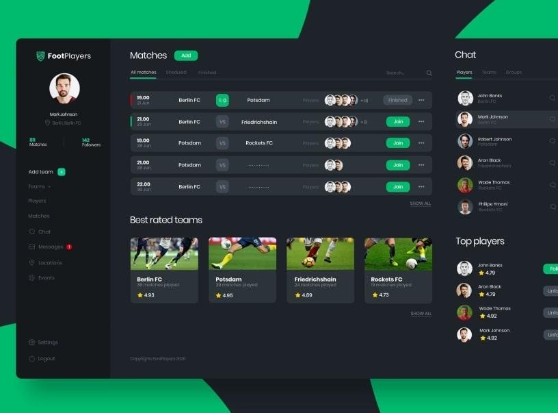 Development of an online platform for football sports fans