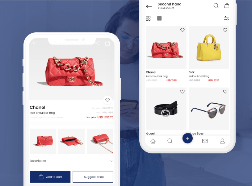 Web app development for a fashion marketplace
