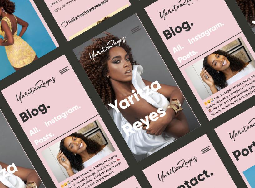 Yaritza Website And Logo Redesign