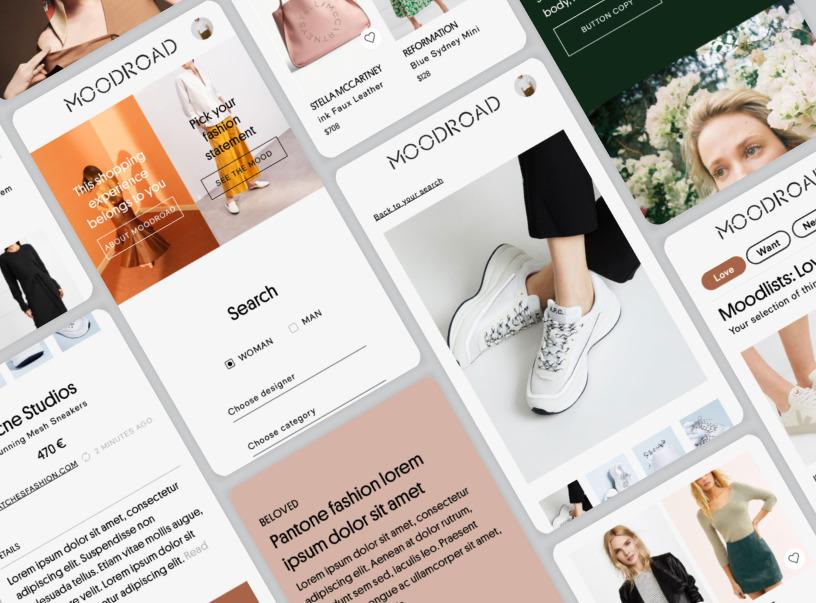 Moodroad – fashion mobile application